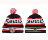 NRL Beanies Manly Se Eagles Black Red White