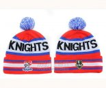 NRL Beanies Newcastle Knights Red Royal Blue