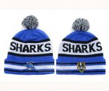 NRL Beanies Cronulla Sharks Royal Blue White
