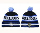NRL Beanies Canterbury Bankstown Bulldogs Black Royal Blue White